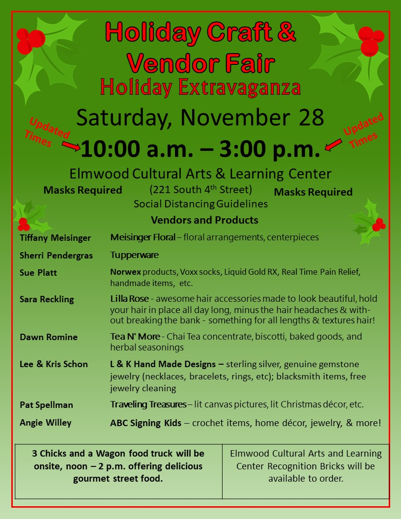 Flyer for Craft Show Holiday Extravaganza 2020