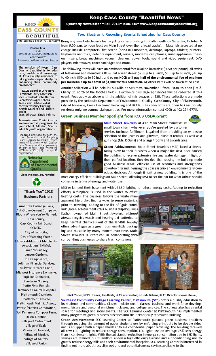 2018 Fall Newsletter pg1