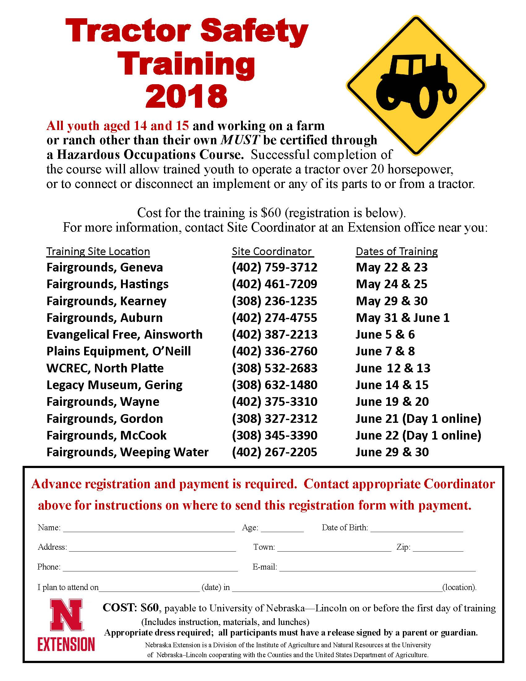 Tractor Safety Flier 2018