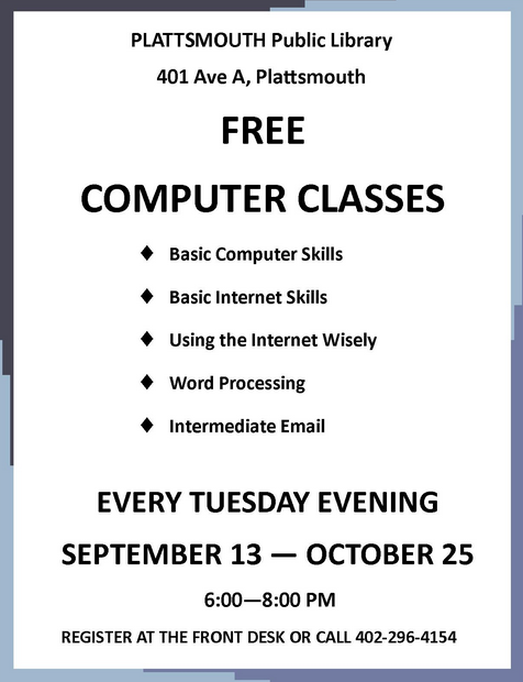 computer classes Tuesdays